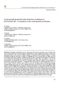 Crack growth threshold under hold time conditions in DA Inconel 718 ...