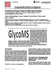 Cracking the Sugar Code by Mass Spectrometry - Springer Link