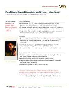 crafting the ultimate craft beer strategy