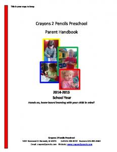 Crayons 2 Pencils Preschool Parent Handbook