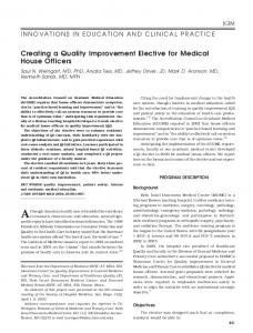 Creating a Quality Improvement Elective for ... - Wiley Online Library