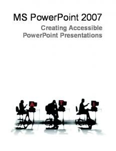 Creating Accessible PowerPoint Presentations
