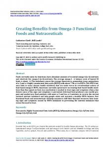 Creating Benefits from Omega-3 Functional Foods and Nutraceuticals