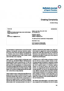 Creating Complexity - Beilstein Journals