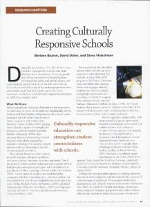 Creating Culturally Responsive Schools - Inclusive Classrooms