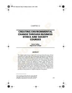 creating environmental change through business ... - Denis Collins