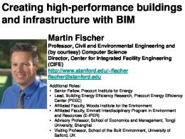 Creating high-performance buildings and