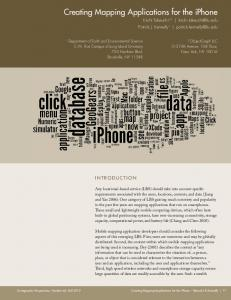 Creating Mapping Applications for the iPhone - Long Island University