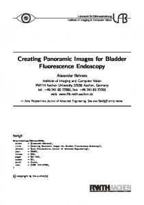 Creating Panoramic Images for Bladder Fluorescence ... - CiteSeerX
