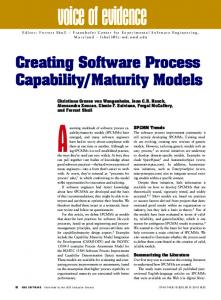Creating Software Process Capability/Maturity ... - Semantic Scholar