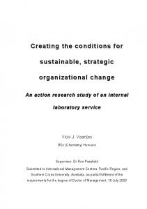 Creating the conditions for sustainable sustainable ...