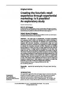 Creating the futuristic retail experience through experiential marketing ...