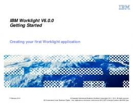 Creating your first Worklight application