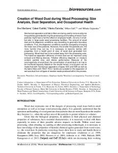 Creation of Wood Dust during Wood Processing in the ... - BioResources
