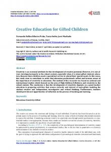 Creative Education for Gifted Children - Eric