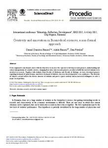 Creativity and Innovation in Biomedical Sciences ... - ScienceDirect.com