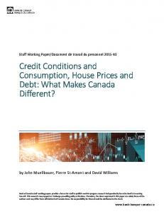 Credit Conditions and Consumption, House ... - Banque du Canada