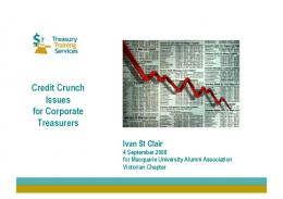 Credit crunch issues for Corporate Treasurers (pdf)
