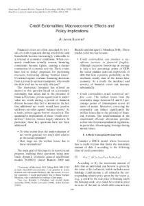 Credit Externalities: Macroeconomic Effects and Policy ... - UMD Econ