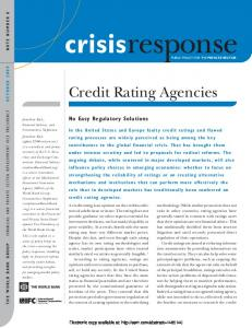 Credit Rating Agencies - SSRN papers