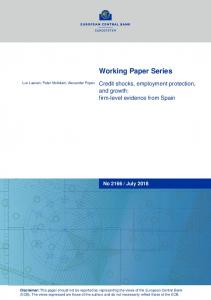 Credit shocks, employment protection, and growth - European Central