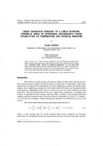 Creep transition stresses of a thick isotropic ... - Thermal Science