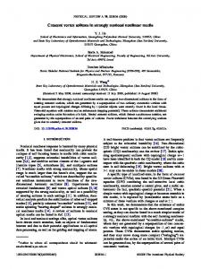 Crescent vortex solitons in strongly nonlocal ... - APS Link Manager