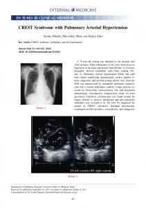 CREST Syndrome with Pulmonary Arterial Hypertension