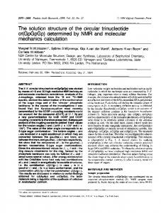 cr(GpGpGp) determined by NMR and molecular ... - BioMedSearch