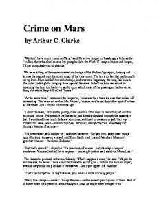 """Crime on Mars"" by Arthur C. Clarke"