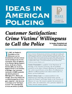 Crime Victims' Willingness to Call the Police - National Center on ...