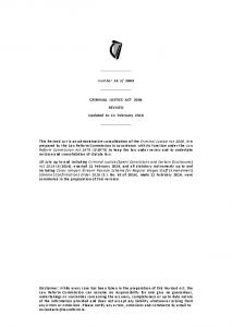 Criminal Justice Act 2006 - Law Reform Commission