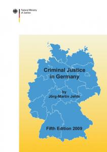 Criminal Justice in Germany