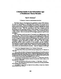 Criminal Justice in the Information Age: A Punishment ... - SSRN papers