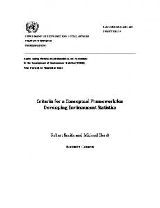 Criteria for a Conceptual Framework for Developing - United Nations ...