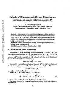 Criteria of Biholomorphic Convex Mappings on the bounded convex ...
