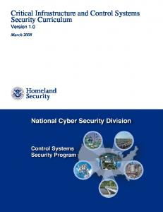 Critical Infrastructure and Control Systems Security ... - ICS-CERT