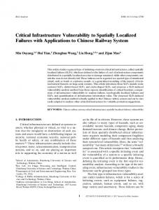 Critical Infrastructure Vulnerability to Spatially ... - Wiley Online Library