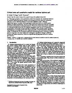Critical state soil constitutive model for methane ... - Wiley Online Library