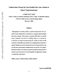 Critical state theory for nonparallel flux line lattices in type-II ...