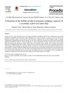 Criticalities in the NZEB retrofit of scholastic buildings - Science Direct