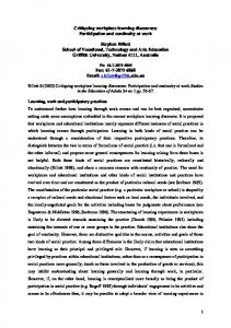 Critiquing workplace learning discourses - Griffith Research Online ...