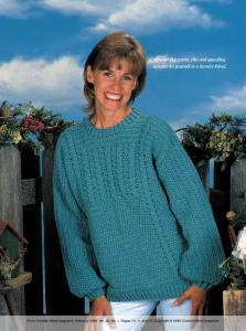 Crochet this warm, chic and appealing sweater for ... - Crochet World