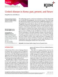 Crohn's disease in Korea - The Korean Journal of Internal Medicine