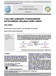Cross-Aldol condensation of isobutyraldehyde and ...