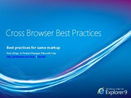 Cross Browser Best Practices - Microsoft