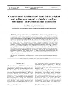 Cross-channel distribution of small fish in tropical and subtropical ...