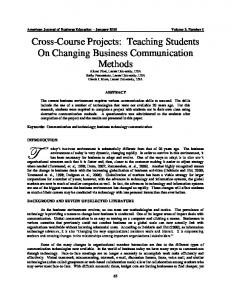 Cross-Course Projects - Eric