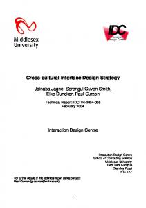 Cross-cultural Interface Design Strategy - CiteSeerX