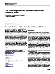 Cross layer access point selection mechanisms for a ... - Springer Link